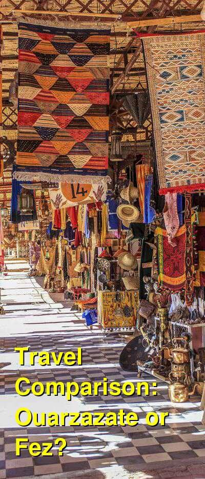 Ouarzazate vs. Fez Travel Comparison