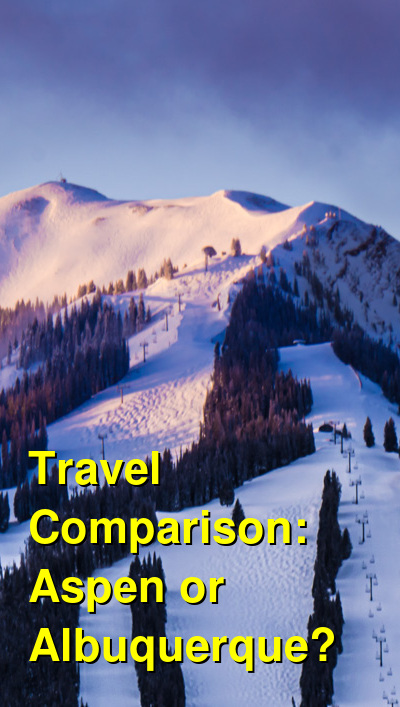 Aspen vs. Albuquerque Travel Comparison