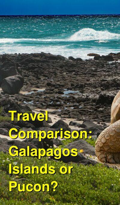 Galapagos Islands vs. Pucon Travel Comparison