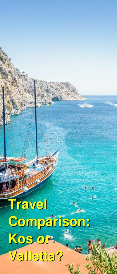 Kos vs. Valletta Travel Comparison