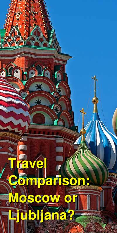 Moscow vs. Ljubljana Travel Comparison