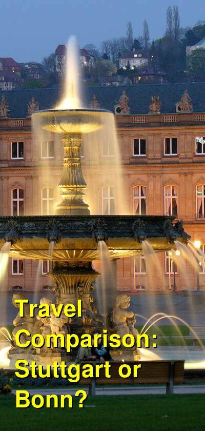 Stuttgart vs. Bonn Travel Comparison