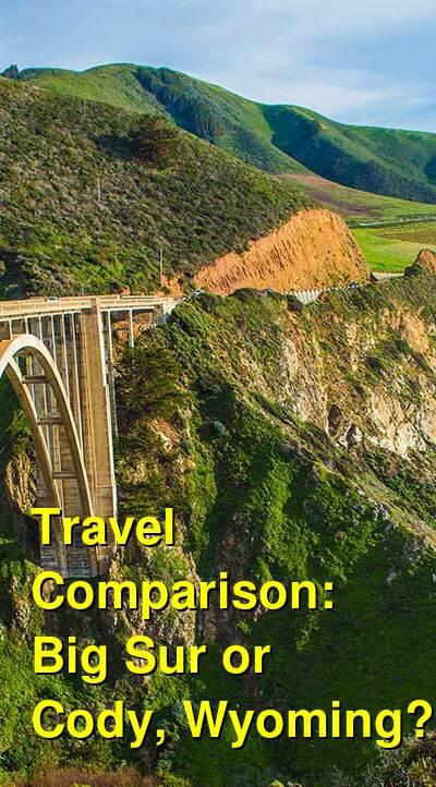Big Sur vs. Cody, Wyoming Travel Comparison