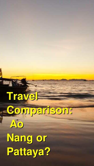 Ao Nang vs. Pattaya Travel Comparison