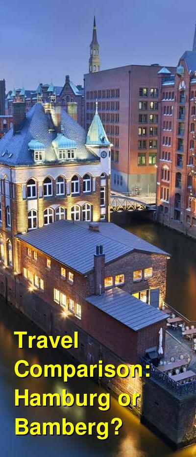 Hamburg vs. Bamberg Travel Comparison