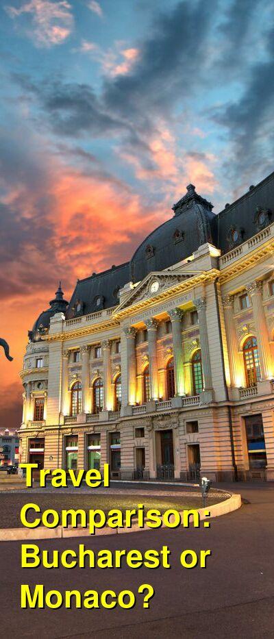 Bucharest vs. Monaco Travel Comparison
