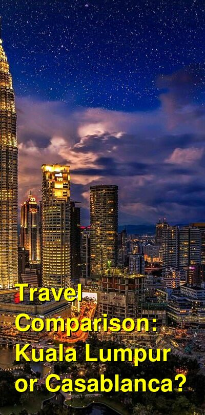 Kuala Lumpur vs. Casablanca Travel Comparison
