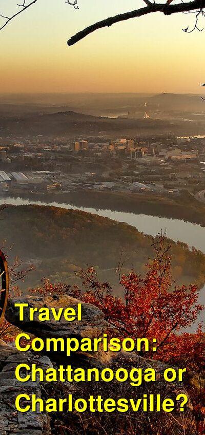 Chattanooga vs. Charlottesville Travel Comparison