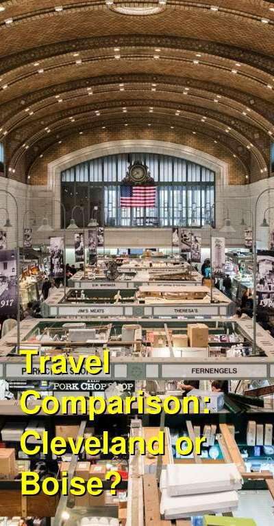 Cleveland vs. Boise Travel Comparison