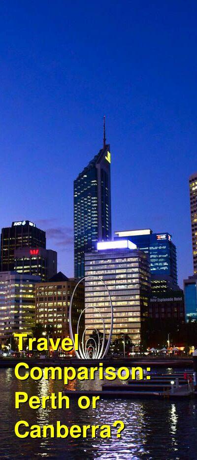 Perth vs. Canberra Travel Comparison