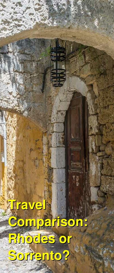 Rhodes vs. Sorrento Travel Comparison