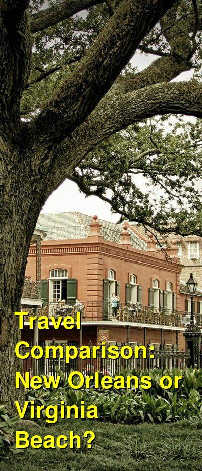 New Orleans vs. Virginia Beach Travel Comparison