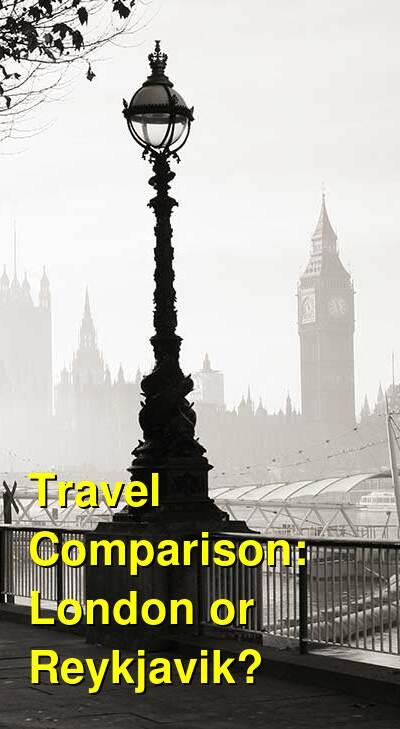 London vs. Reykjavik Travel Comparison