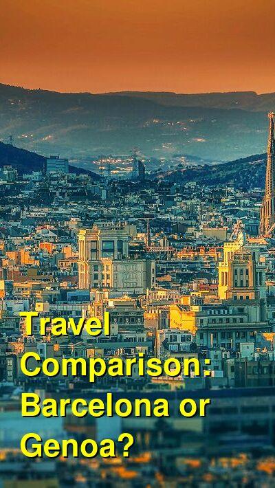 Barcelona vs. Genoa Travel Comparison