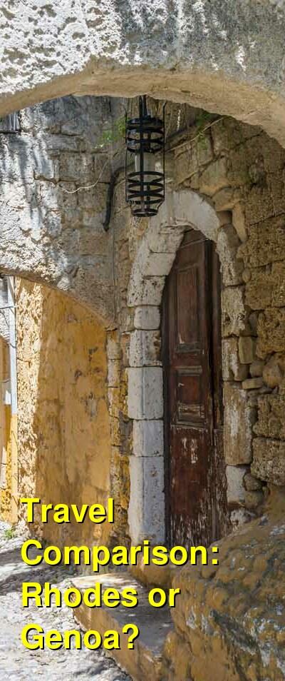 Rhodes vs. Genoa Travel Comparison