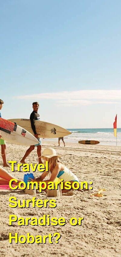 Surfers Paradise vs. Hobart Travel Comparison