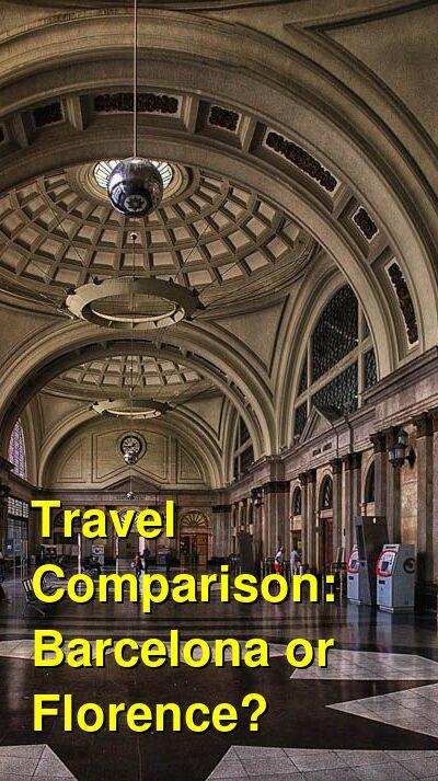 Barcelona vs. Florence Travel Comparison