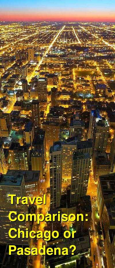 Chicago vs. Pasadena Travel Comparison