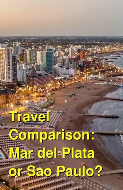 Mar del Plata vs. Sao Paulo Travel Comparison