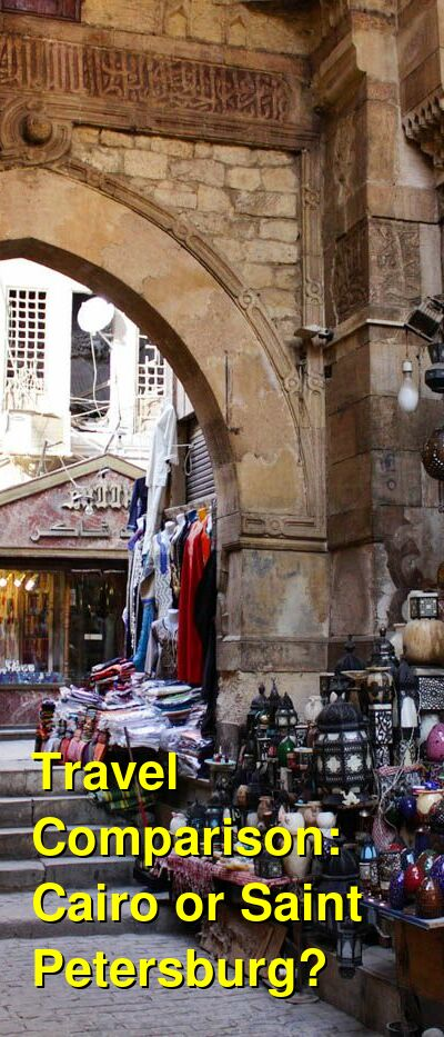 Cairo vs. Saint Petersburg Travel Comparison