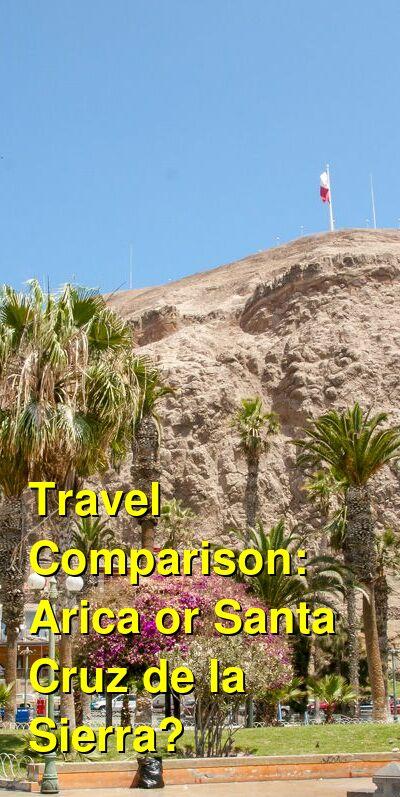 Arica vs. Santa Cruz de la Sierra Travel Comparison