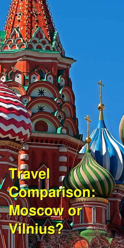 Moscow vs. Vilnius Travel Comparison