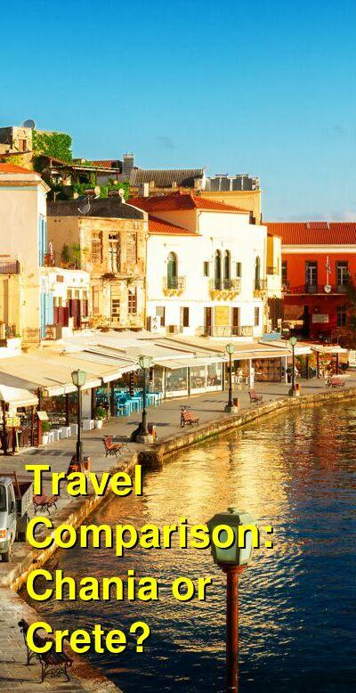 Chania vs. Crete Travel Comparison