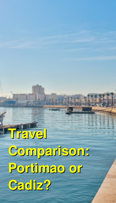 Portimao vs. Cadiz Travel Comparison