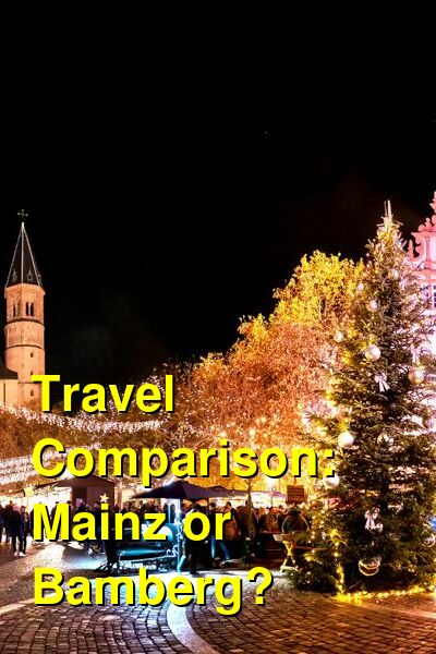 Mainz vs. Bamberg Travel Comparison