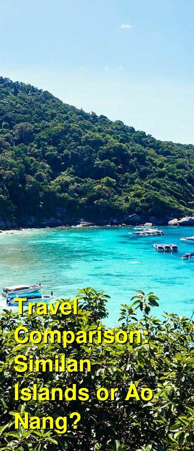 Similan Islands vs. Ao Nang Travel Comparison