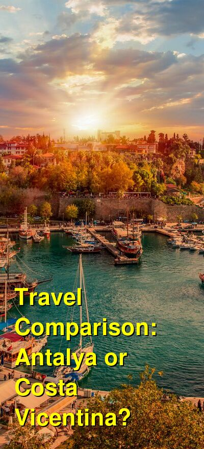 Antalya vs. Costa Vicentina Travel Comparison