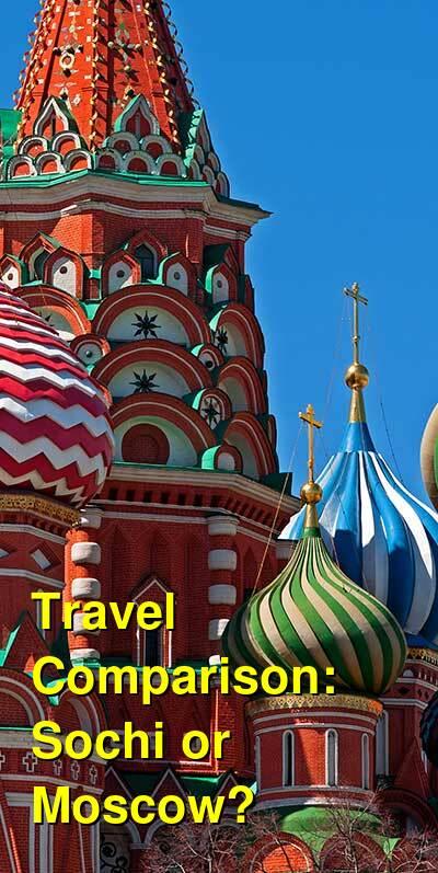Sochi vs. Moscow Travel Comparison