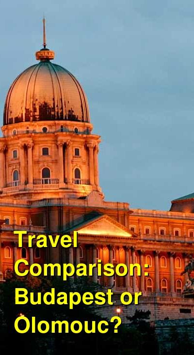 Budapest vs. Olomouc Travel Comparison