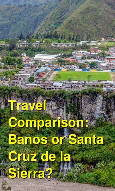 Banos vs. Santa Cruz de la Sierra Travel Comparison