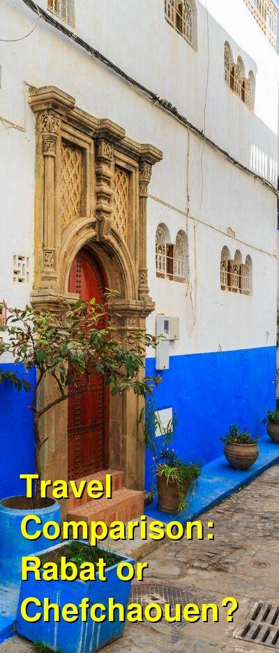 Rabat vs. Chefchaouen Travel Comparison