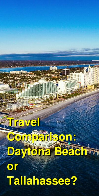 Daytona Beach vs. Tallahassee Travel Comparison