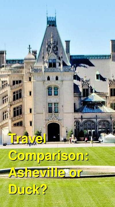 Asheville vs. Duck Travel Comparison