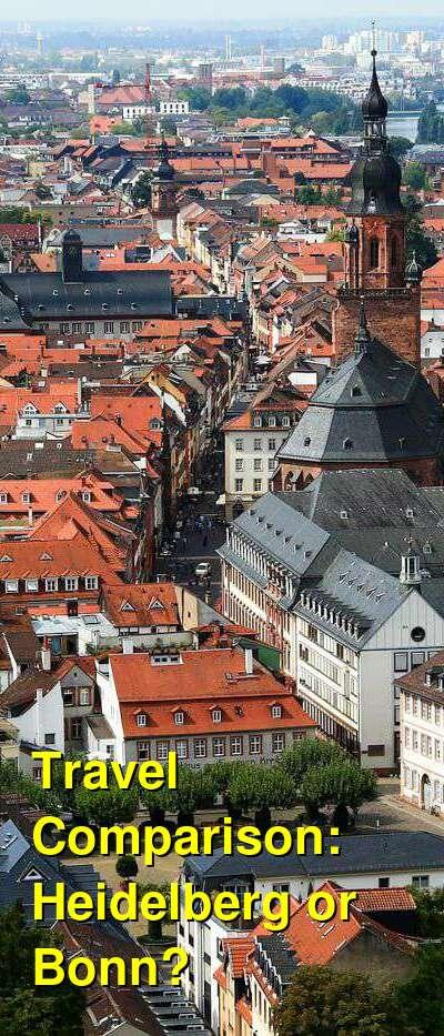 Heidelberg vs. Bonn Travel Comparison