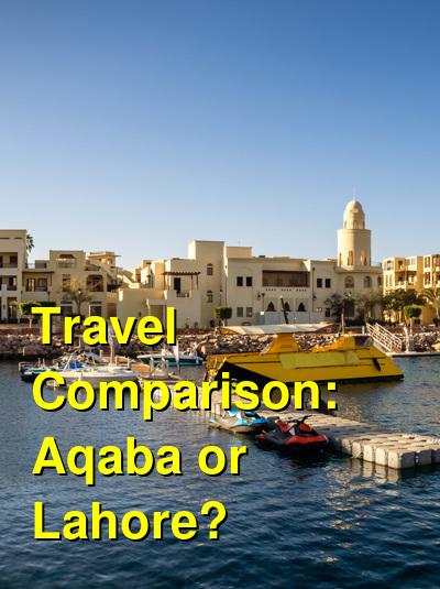 Aqaba vs. Lahore Travel Comparison