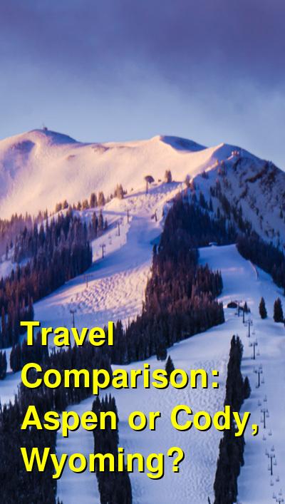 Aspen vs. Cody, Wyoming Travel Comparison