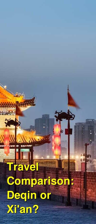 Deqin vs. Xi'an Travel Comparison
