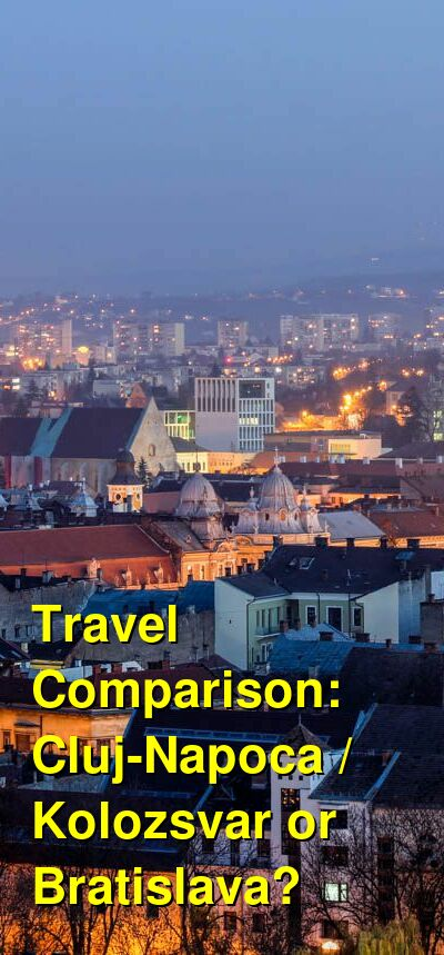 Cluj-Napoca / Kolozsvar vs. Bratislava Travel Comparison