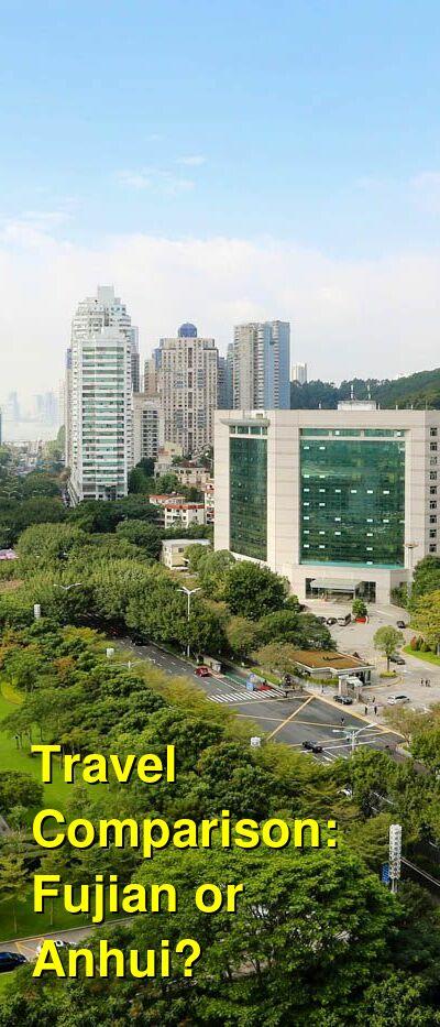 Fujian vs. Anhui Travel Comparison
