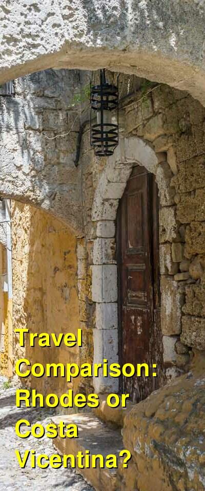 Rhodes vs. Costa Vicentina Travel Comparison