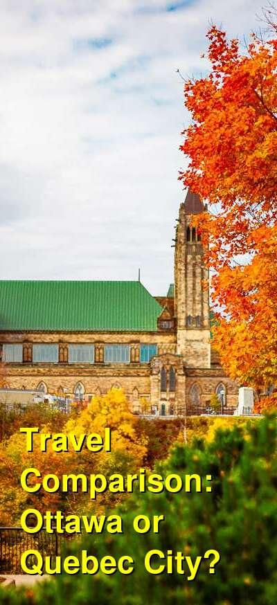 Ottawa vs. Quebec City Travel Comparison