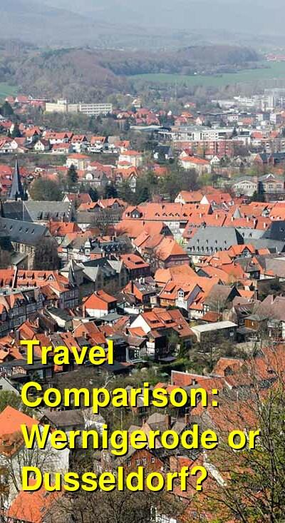 Wernigerode vs. Dusseldorf Travel Comparison