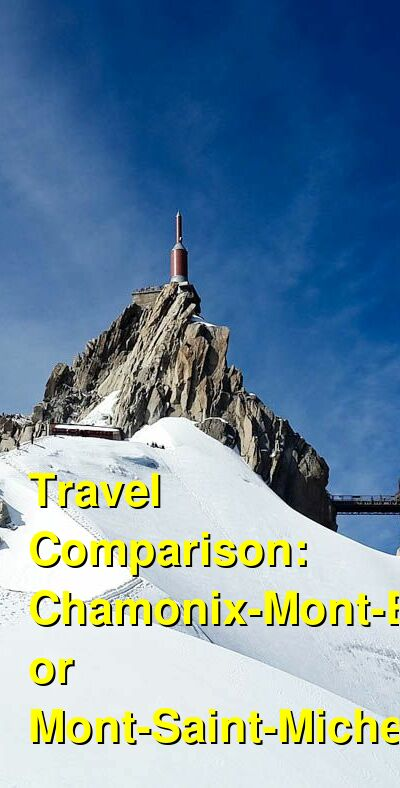 Chamonix-Mont-Blanc vs. Mont-Saint-Michel Travel Comparison