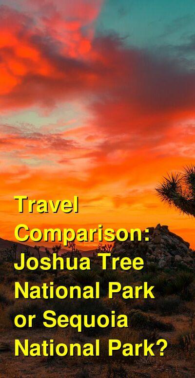 Joshua Tree National Park vs. Sequoia National Park Travel Comparison