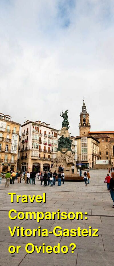 Vitoria-Gasteiz vs. Oviedo Travel Comparison