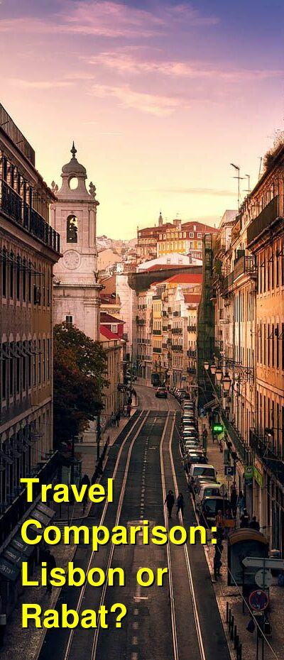 Lisbon vs. Rabat Travel Comparison